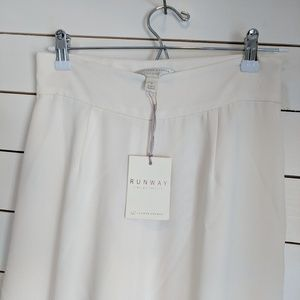 NWY ivory, fully lined, wide leg trouser